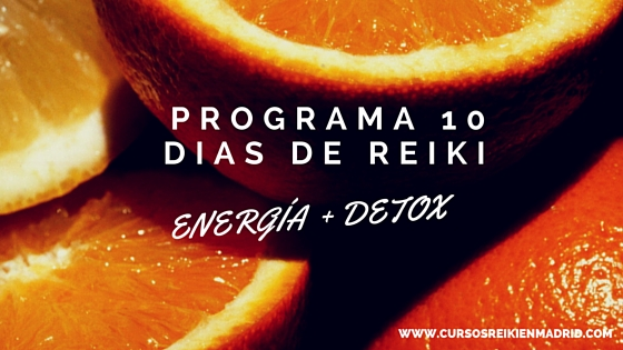10 días de Reiki para energetización y desintoxicación