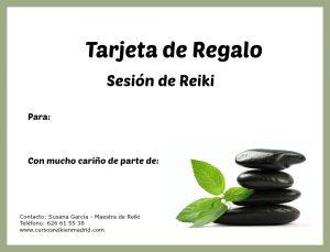 Regalo original sesion Reiki Madrid